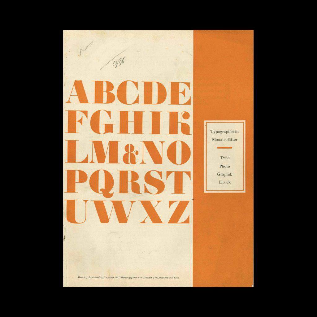 Typografische Monatsblätter, 11-12, 1947
