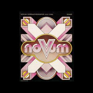 Novum Gebrauchsgraphik, 7, 1973. Cover design by Michael Hühnerfeld