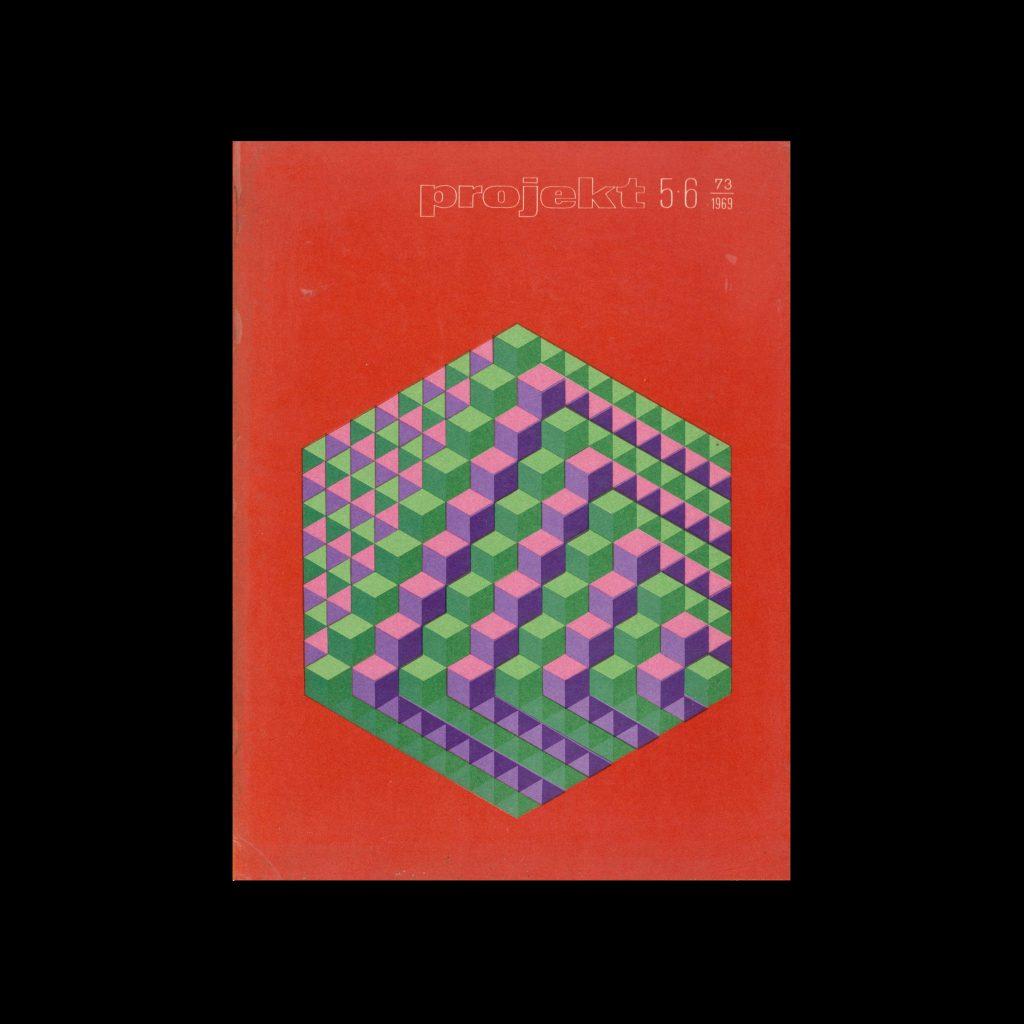 Projekt 73, 5-6, 1969. Cover design by Hubert Hilscher