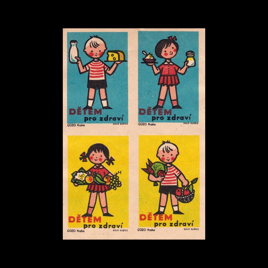 Children for Health, Czechoslovakian 1960s Matchbox label set