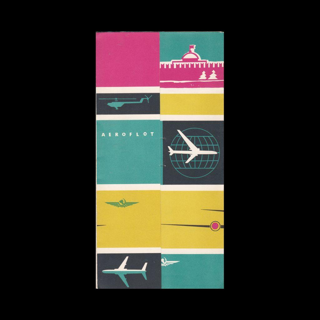 Aeroflot, 6 different brochures in folder , 1970