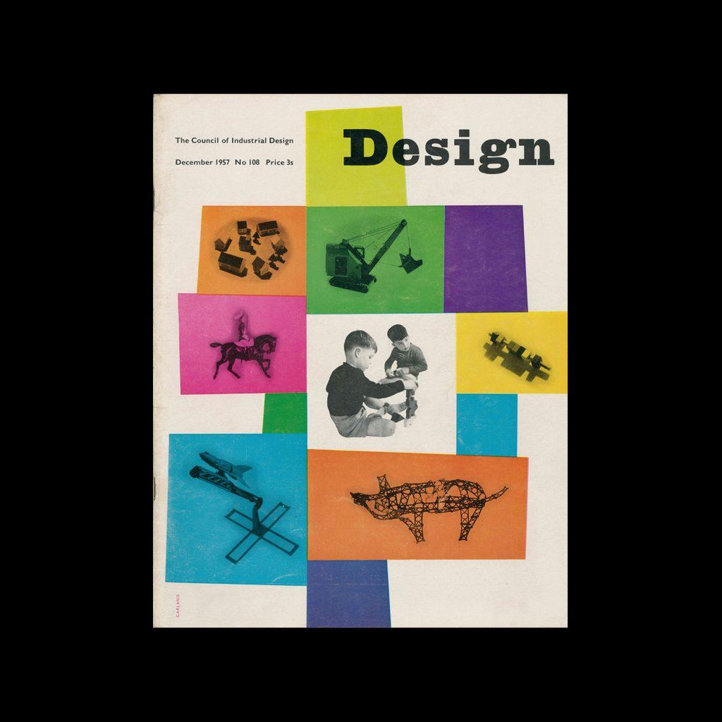 Design, Council of Industrial Design, 108, December 1957. Cover design by Ken Garland