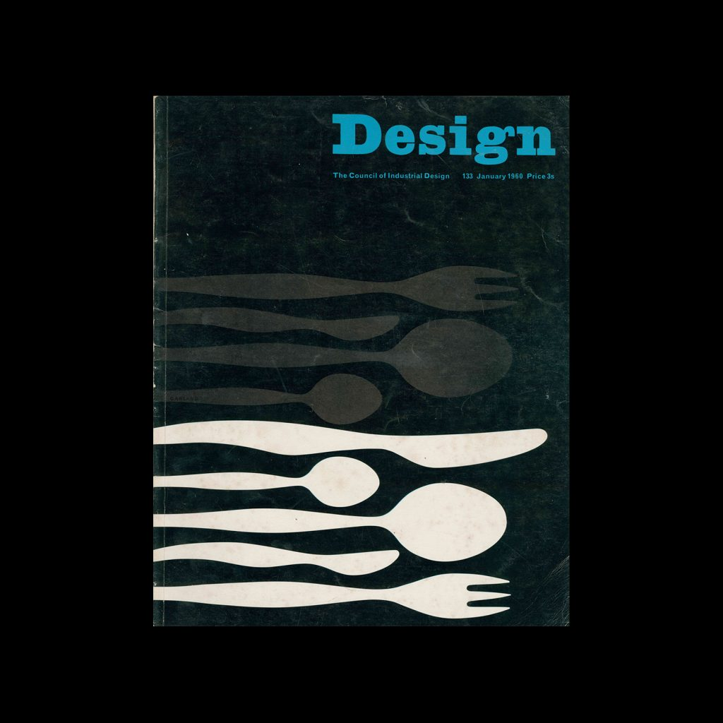Design, Council of Industrial Design, 133, January 1960. Cover design by Ken Garland