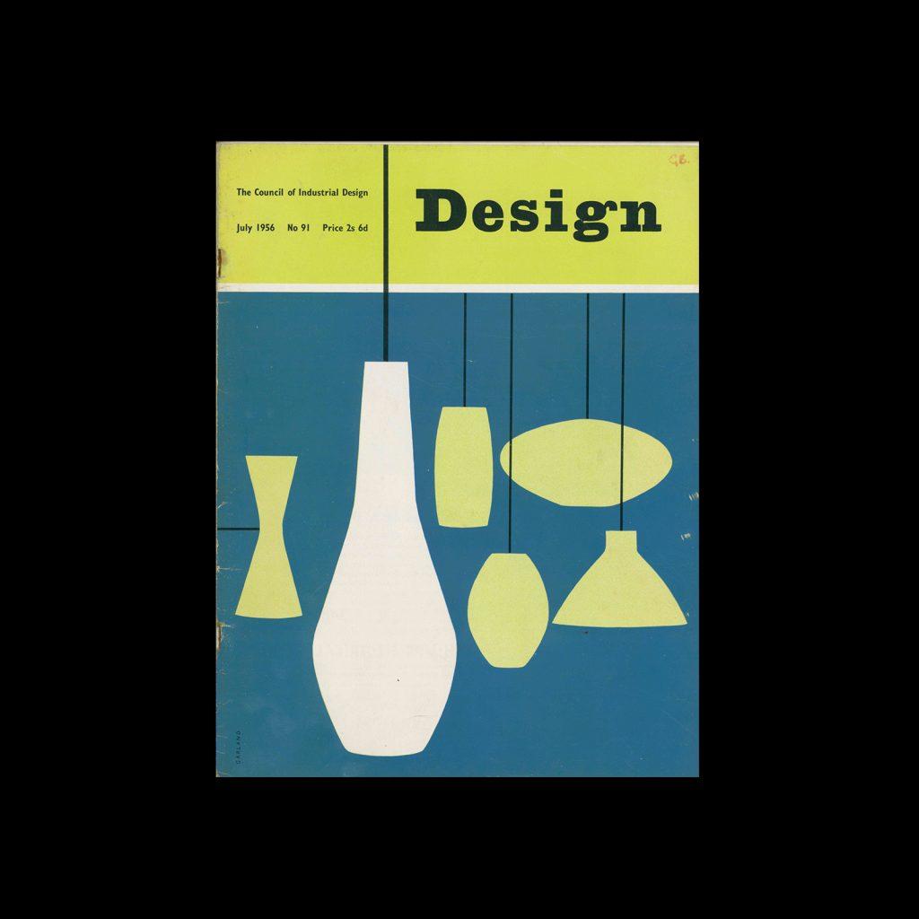 Design, Council of Industrial Design, 91, July 1956. Cover design by Ken Garland