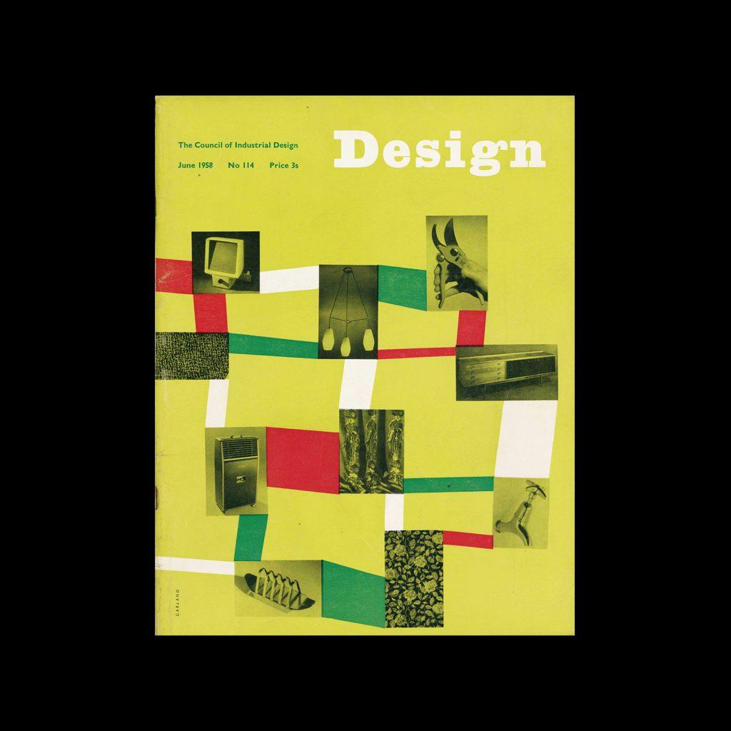 Design, Council of Industrial Design, 114, June 1958. Cover design by Ken Garland