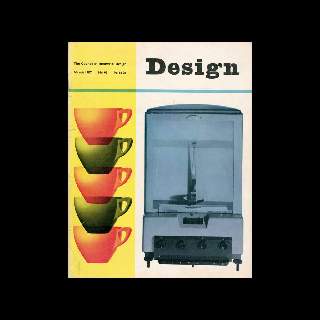 Design, Council of Industrial Design, 99, March 1957. Cover design by Ken Garland