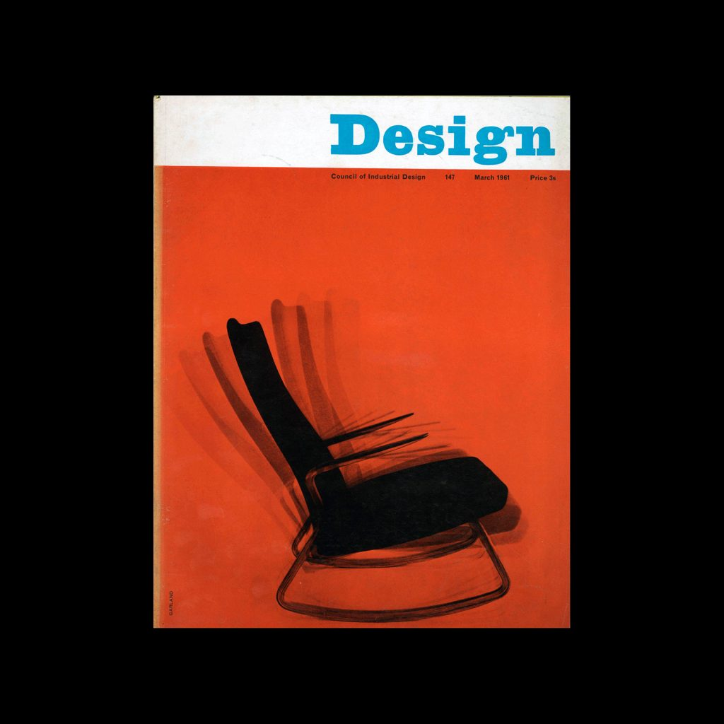 Design, Council of Industrial Design, 147, March 1961. Cover design by Ken Garland