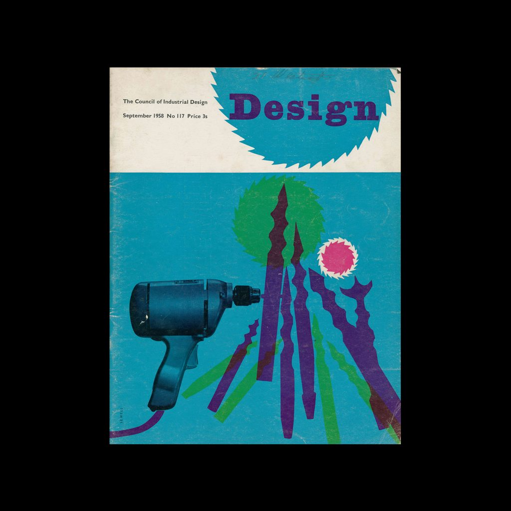 Design, Council of Industrial Design, 117, September 1958. Cover design by John Sewell