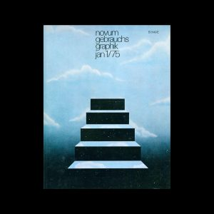 Novum Gebrauchsgraphik, 1, 1975. Cover design by Michael Hasted