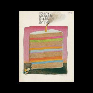 Novum Gebrauchsgraphik, 1, 1976. Cover design by Etienne Delessert