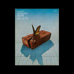 Novum Gebrauchsgraphik, 12, 1975. Cover design by Pierre Peyrolles