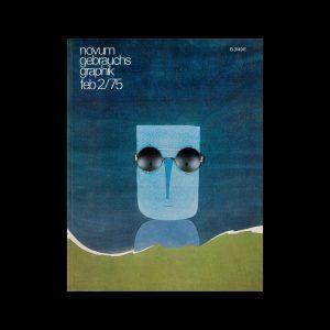 Novum Gebrauchsgraphik, 2, 1975. Cover design by Colman Cohen