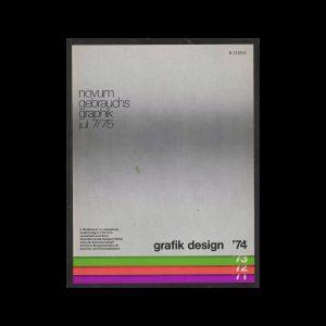 Novum Gebrauchsgraphik, 7, 1975. Cover design by Bruno K. Wiese