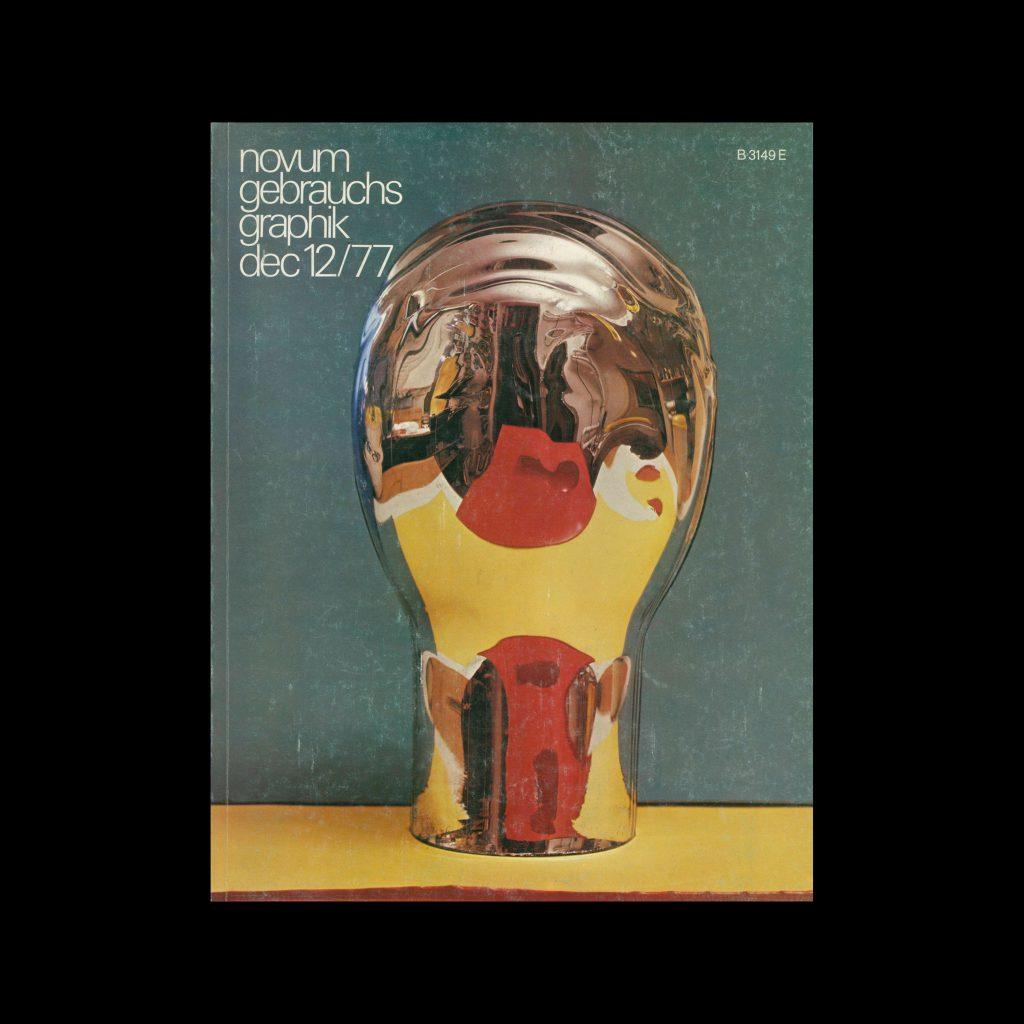 Novum Gebrauchsgraphik, 12, 1977. Cover design by Janos Kass