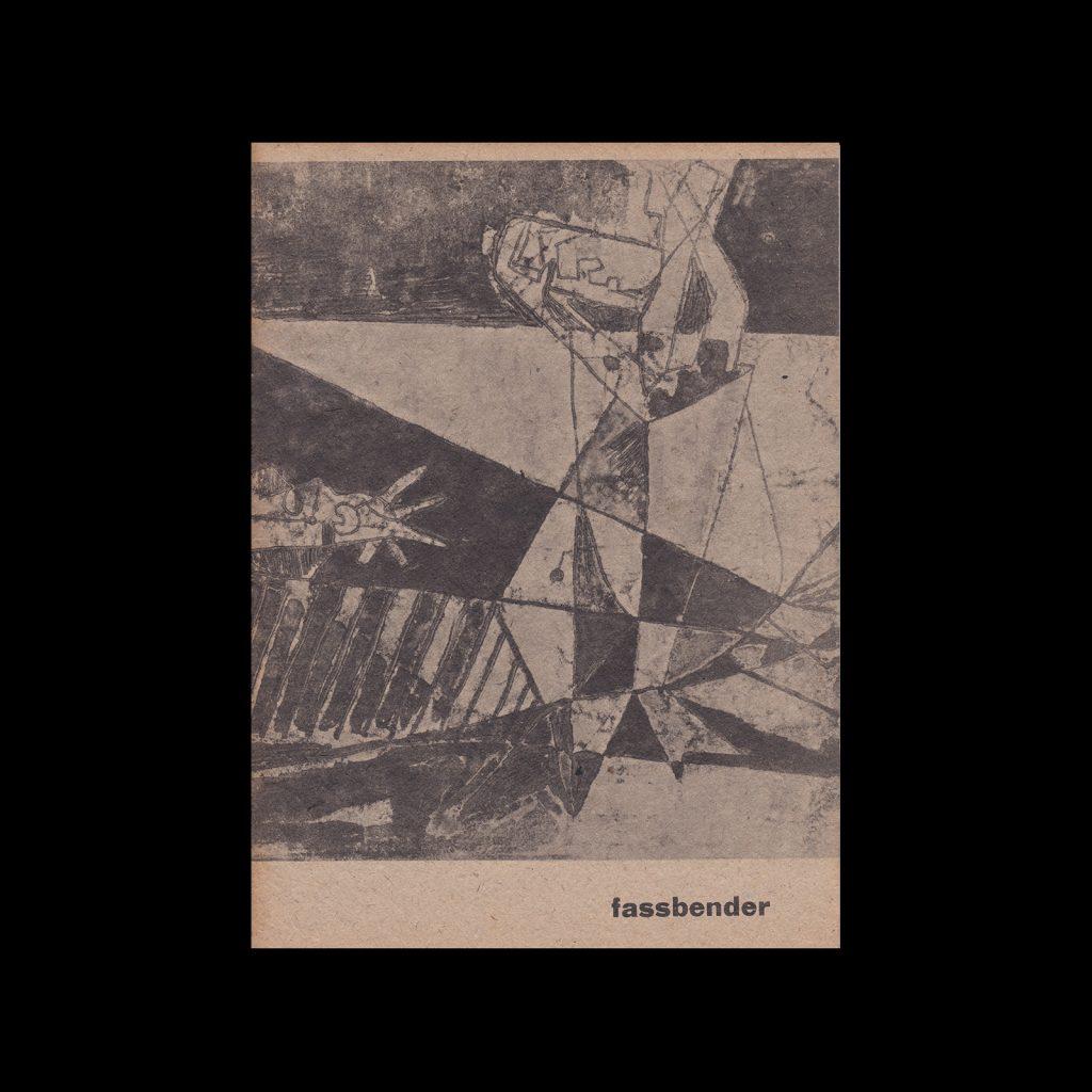 Fassbender, Stedelijk Museum Amsterdam, 1961. Design by Willem Sandberg
