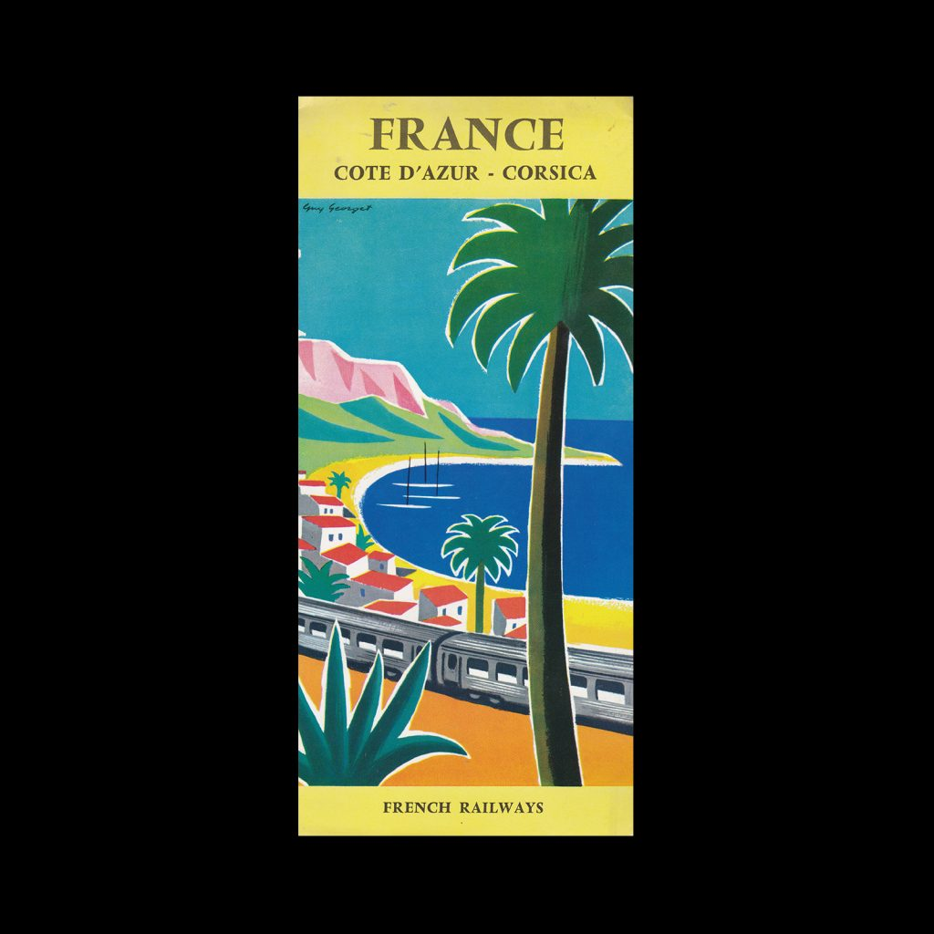France Cote D'Azur - Corsica French Railways, 1960 designed by Guy Georget