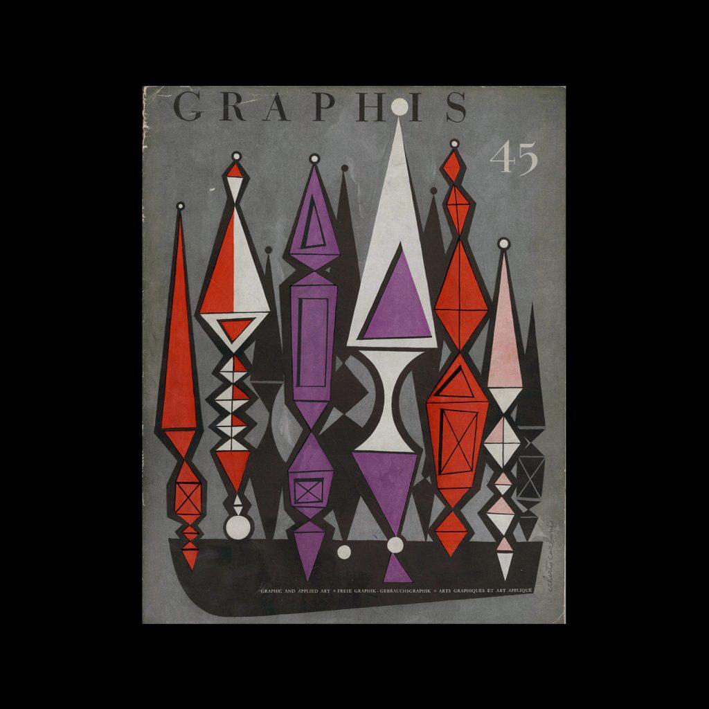 Graphis 45, 1953. Cover design by Erberto Carboni