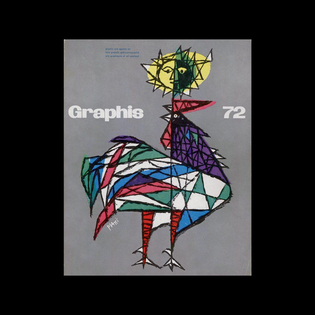 Graphis 72, 1957. Cover design by Celestino Piatti.