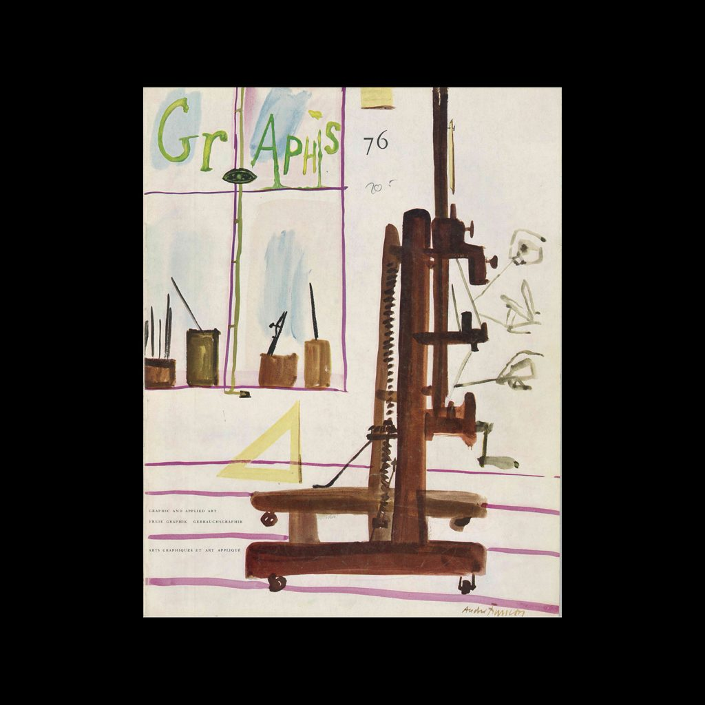 Graphis 76, 1958. Cover design by André François.