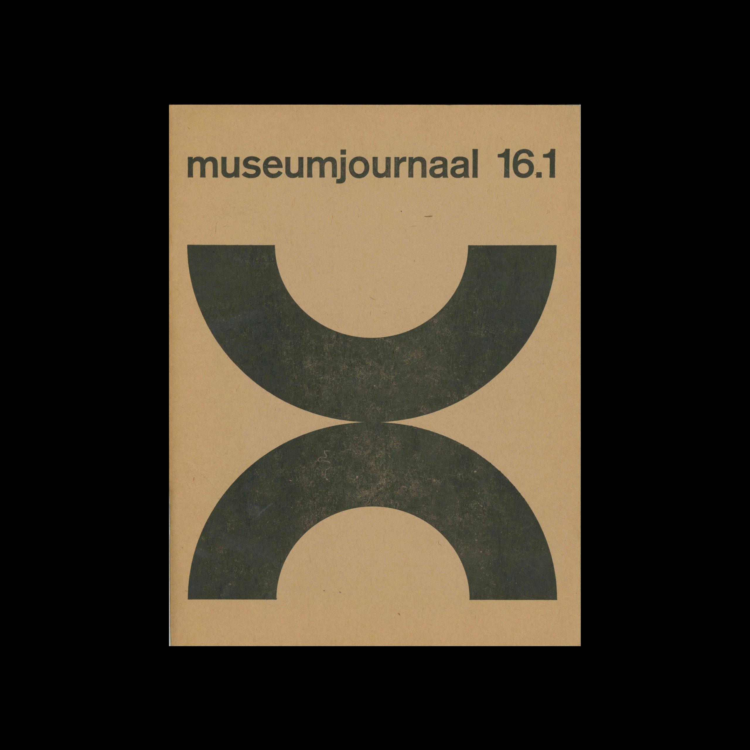 Museumjournaal, Serie 16 no1, 1971. Designed by Jurriaan Schrofer.
