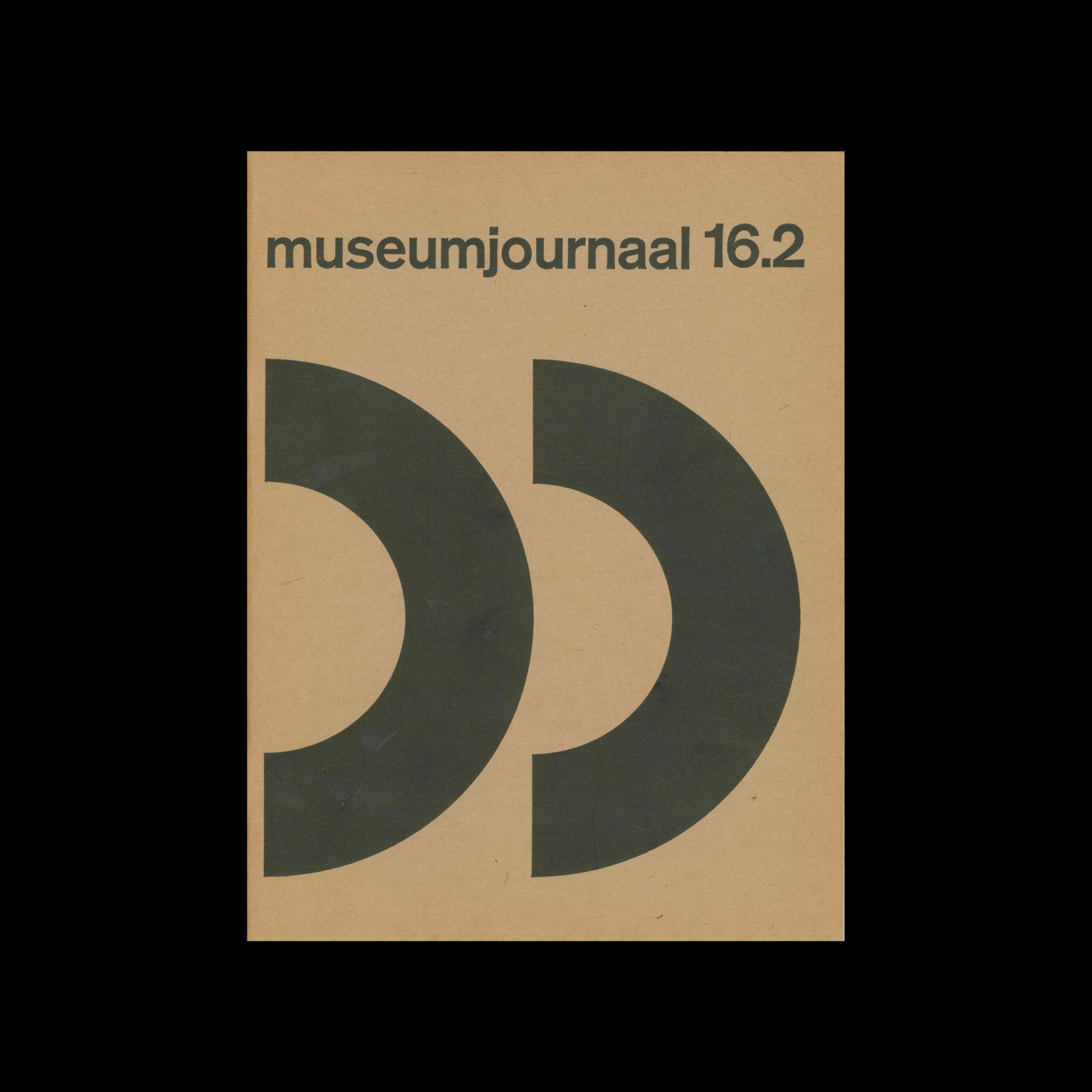 Museumjournaal, Serie 16 no2, 1971. Designed by Jurriaan Schrofer.