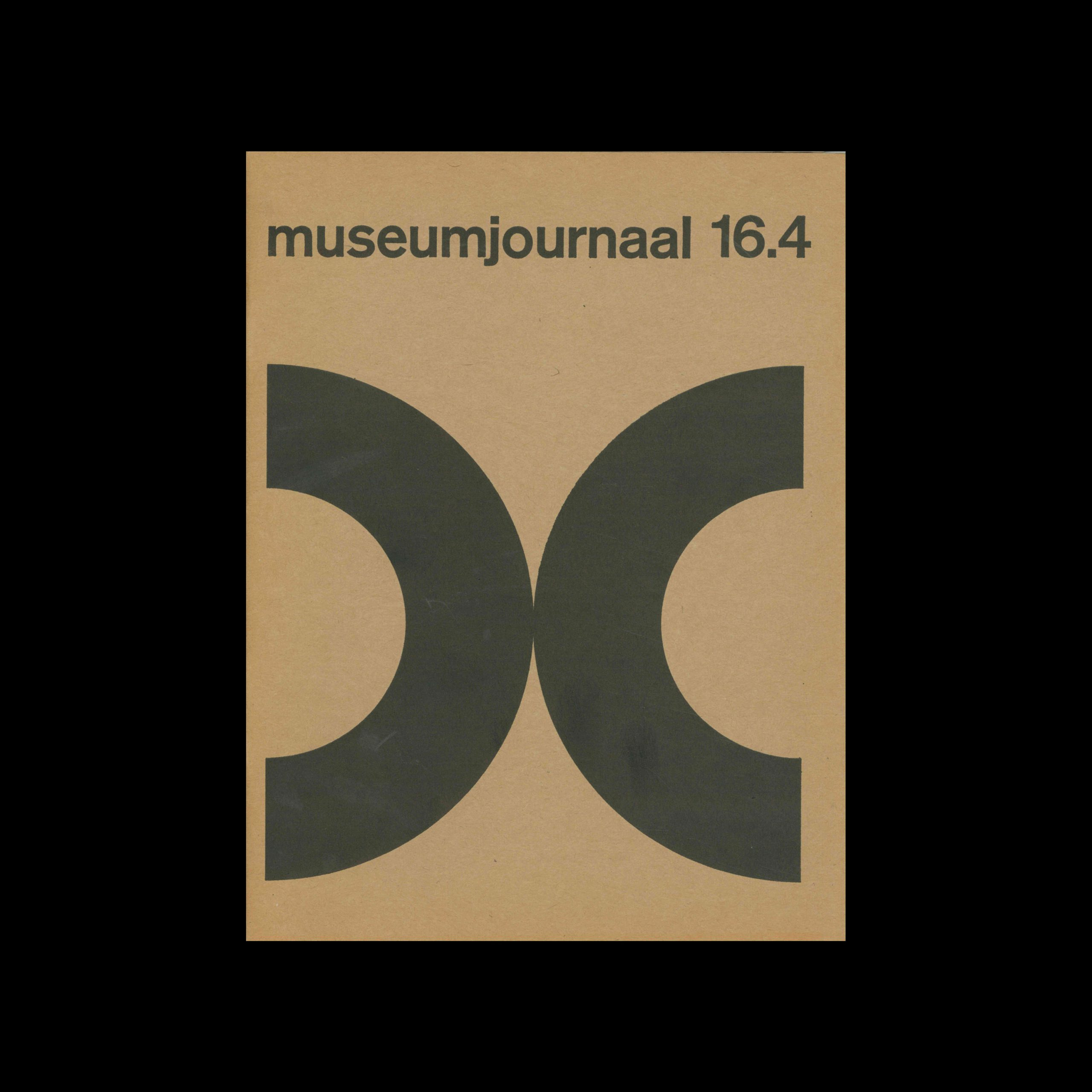 Museumjournaal, Serie 16 no4, 1971. Designed by Jurriaan Schrofer.