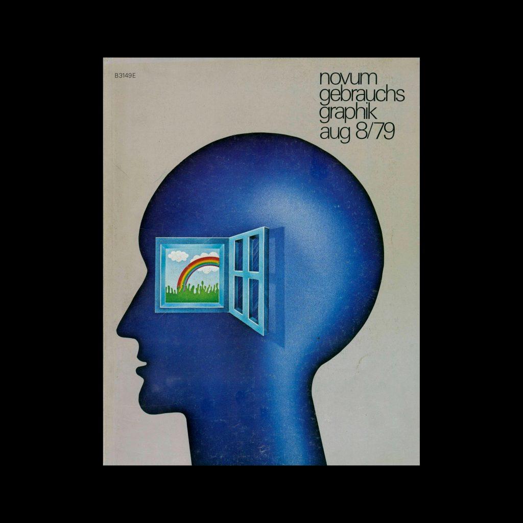 Novum Gebrauchsgraphik, 8, 1979. Cover design by Mira Maroz