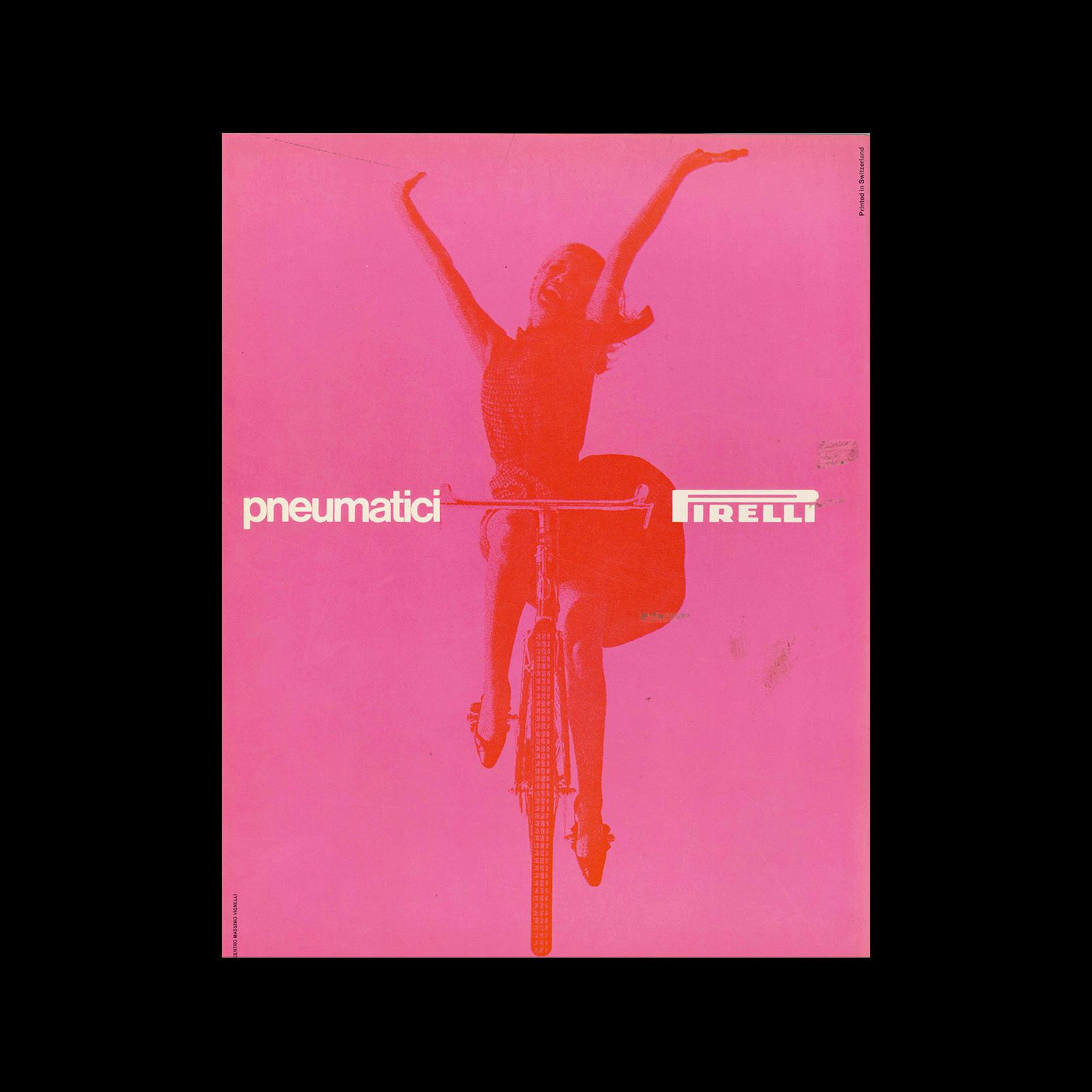 Pneumatici Pirelli, 1963. Designed by Massimo Vignelli