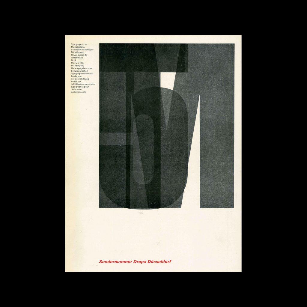 Typografische Monatsblätter, 5, 1967. Cover design by Emil Ruder