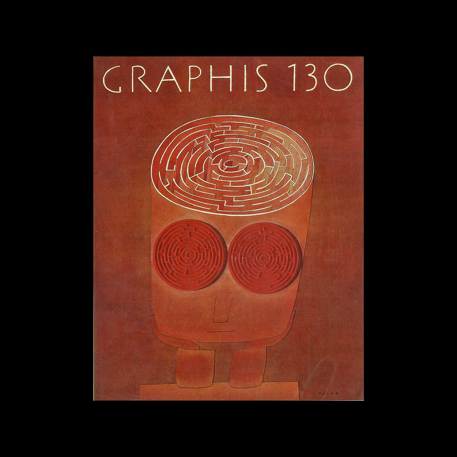 Graphis 130, 1967. Cover design by Jean Michel Folon.