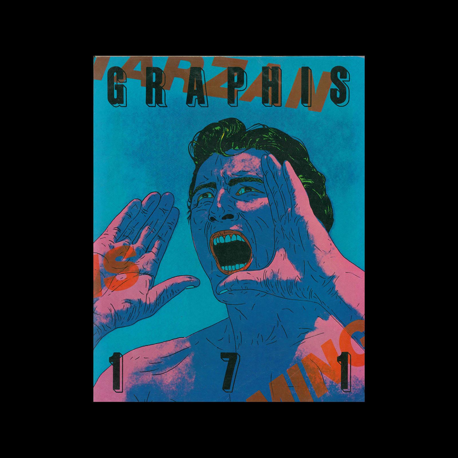Graphis 171, 1974. Cover design by Tandanori Yokoo.