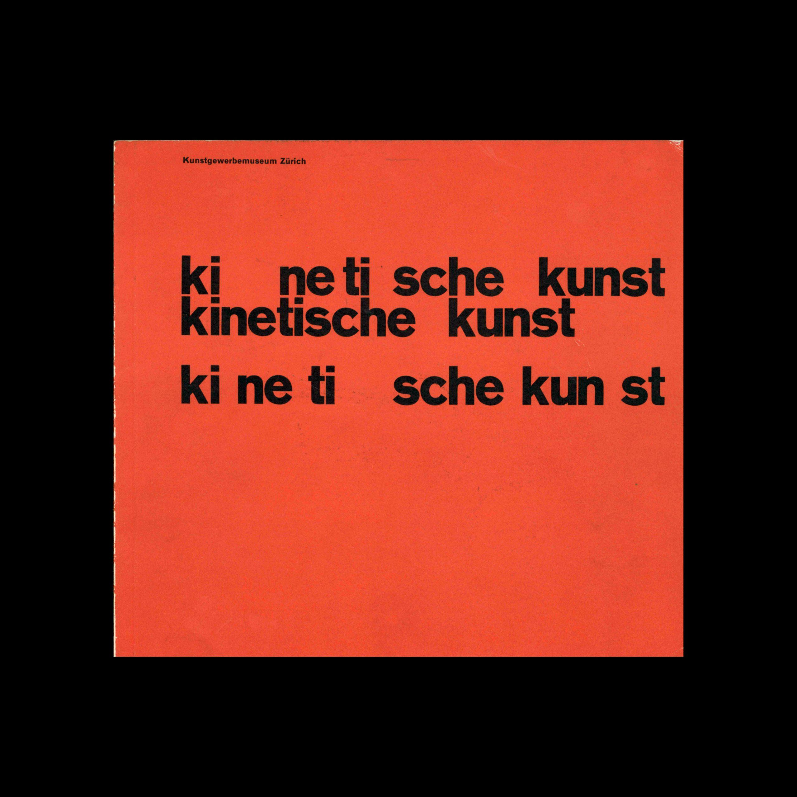 Kinetische Kunst, Kunstgewerbemuseum, Zürich, 1960