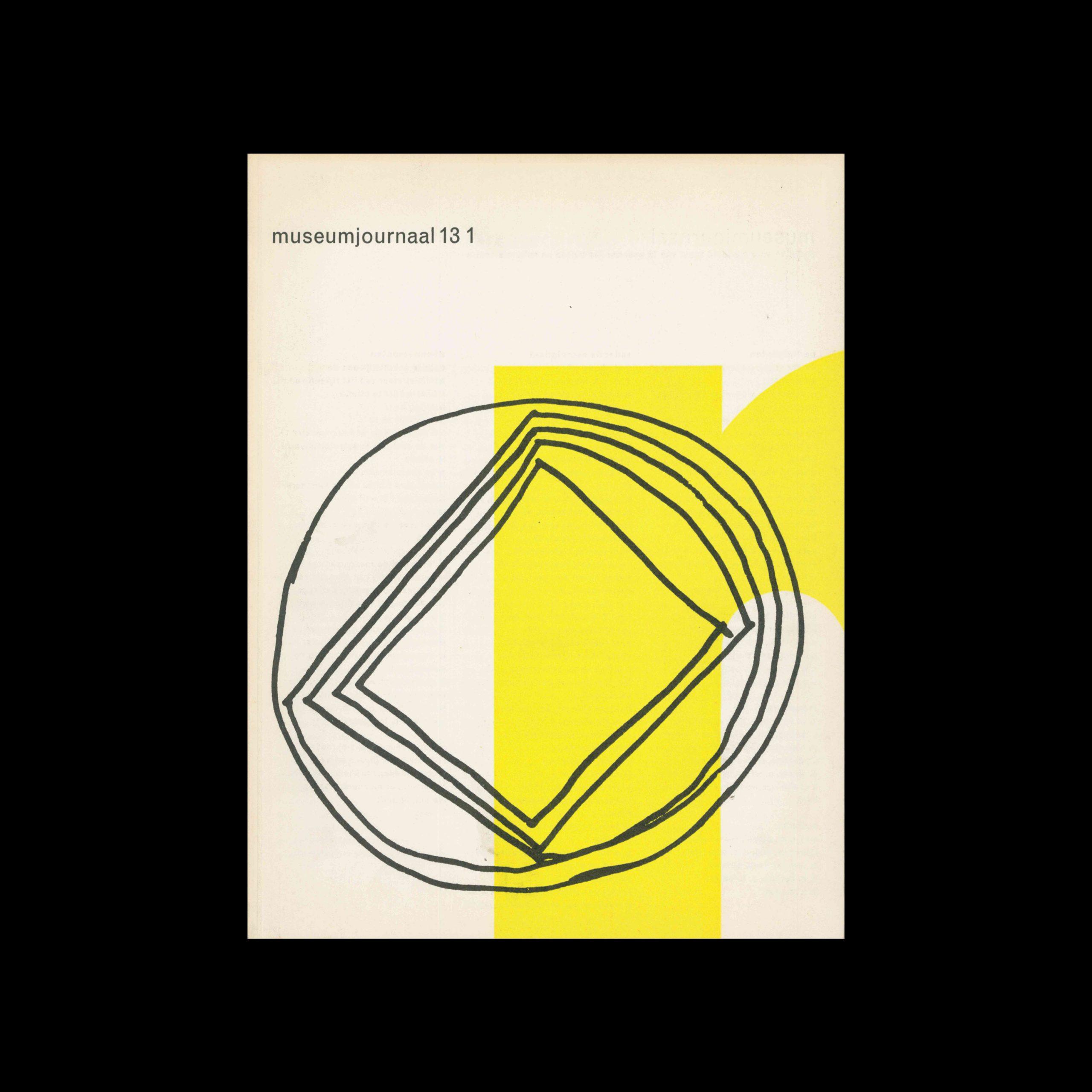 Museumjournaal, Serie 13 no1, 1968.Designed by Jurriaan Schrofer.
