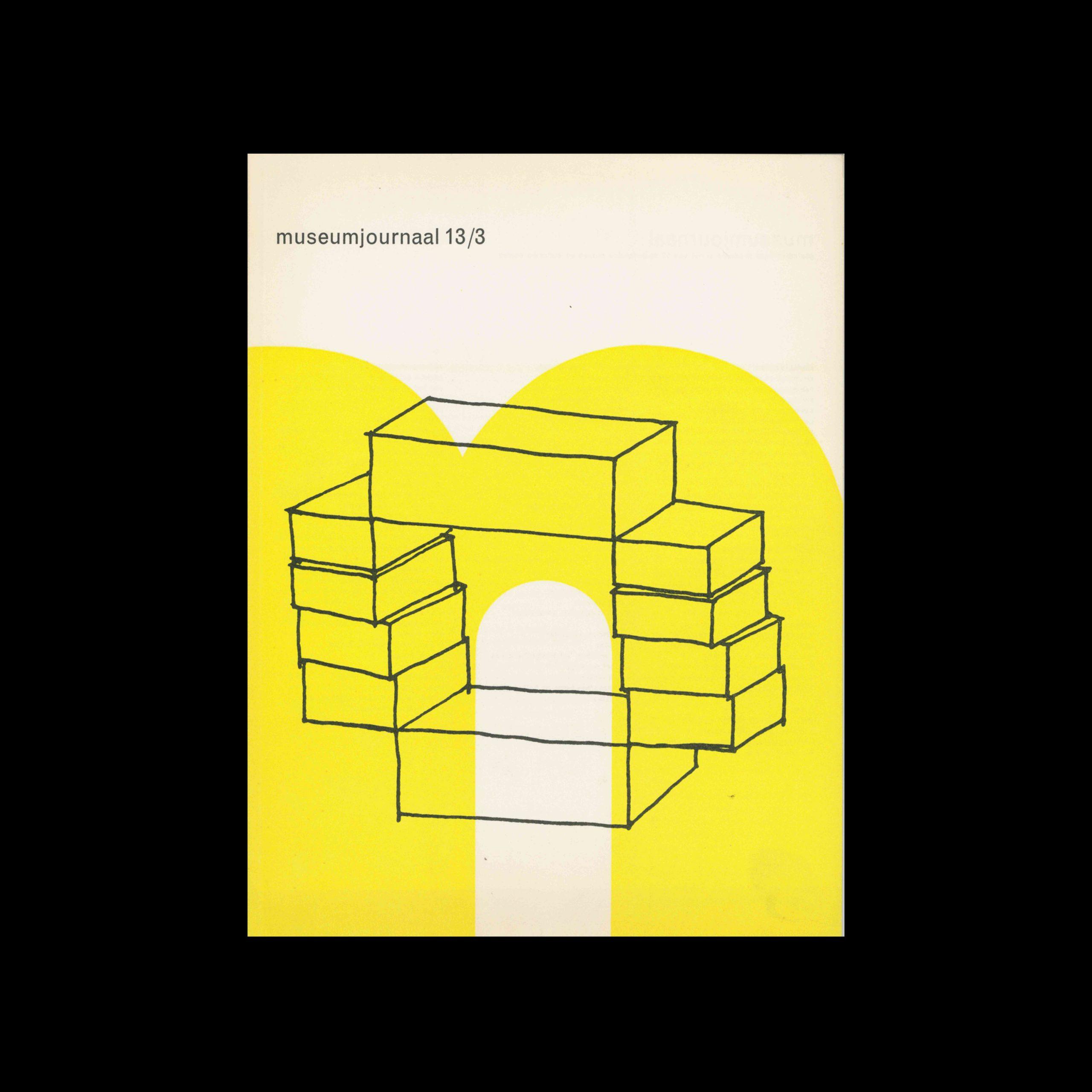 Museumjournaal, Serie 13 no3, 1968. Designed by Jurriaan Schrofer.