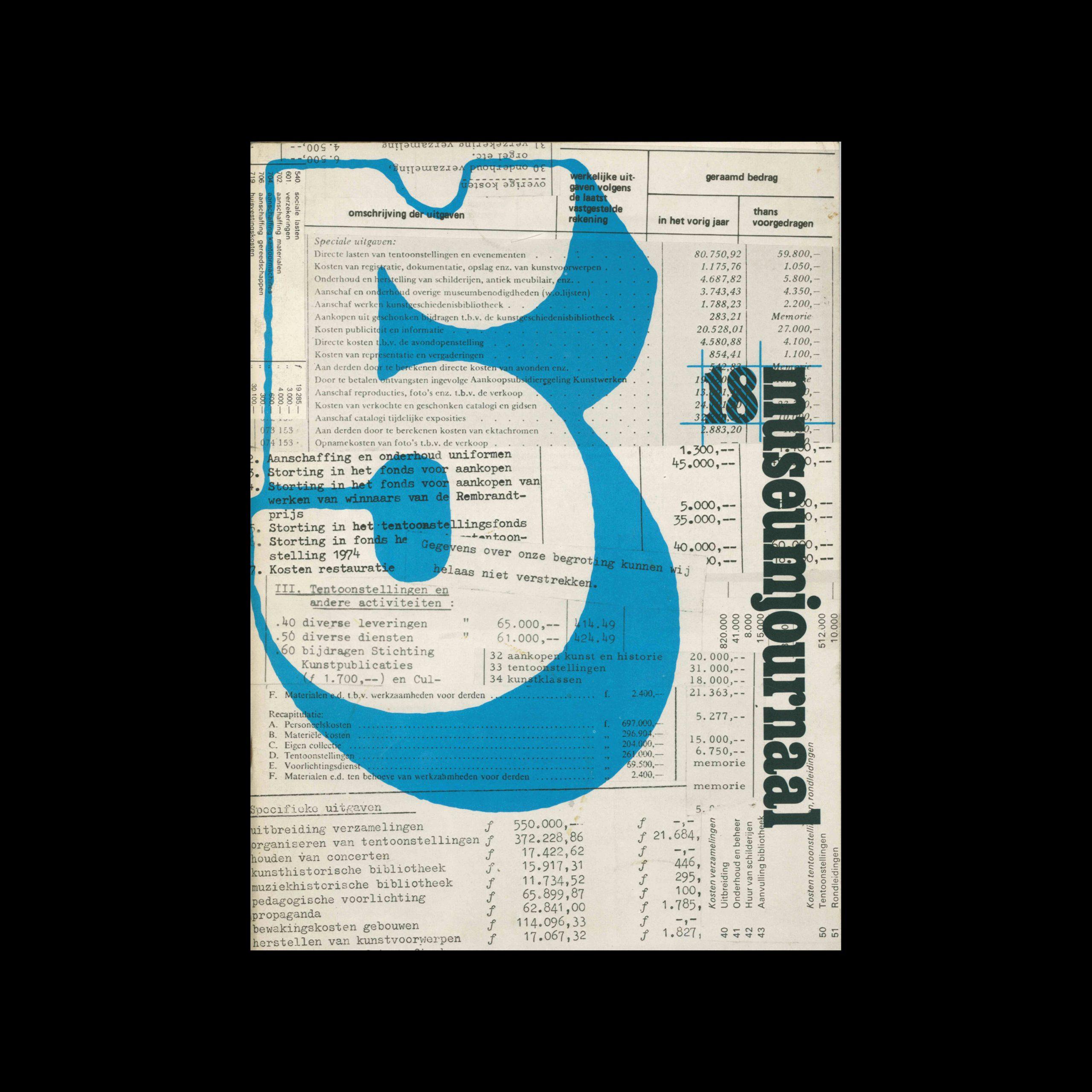 Museumjournaal, Serie 18 no5, 1973. Frank Steenhagen (cover), Jurriaan Schrofer (layout)