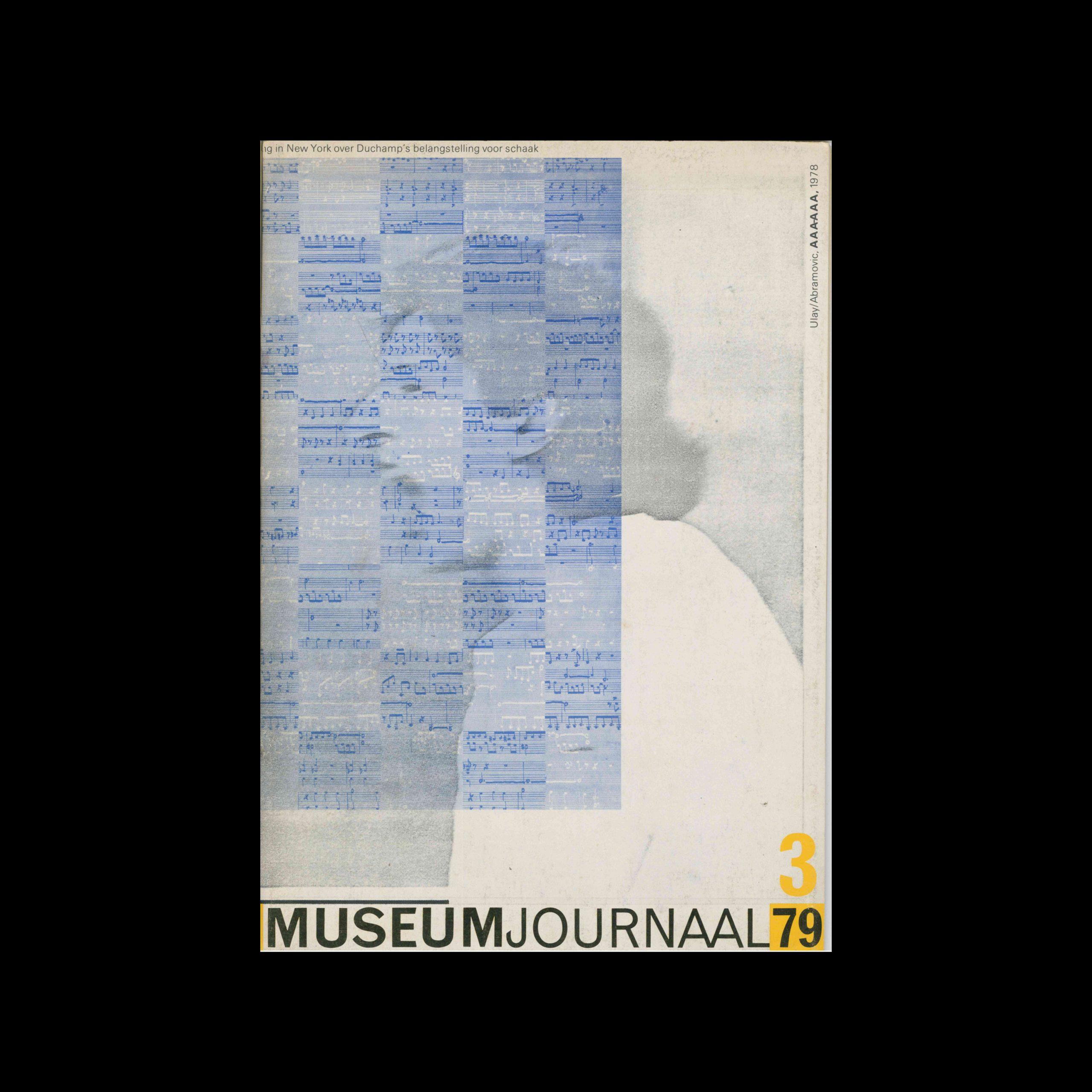 Museumjournaal, Serie 24 no3, 1979. Cover design by Jan van Toorn.