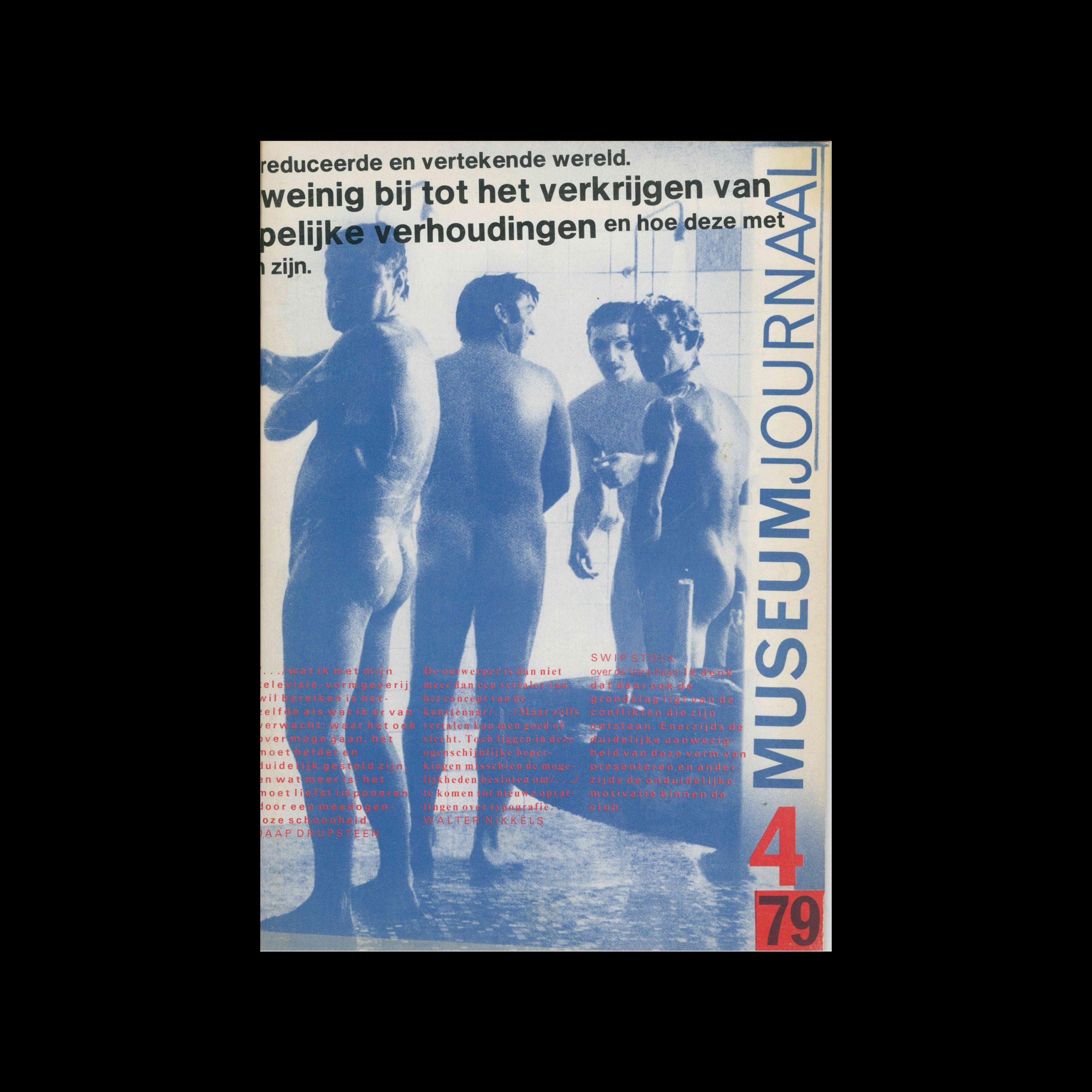 Museumjournaal, Serie 24 no4, 1979. Cover design by Jan van Toorn.