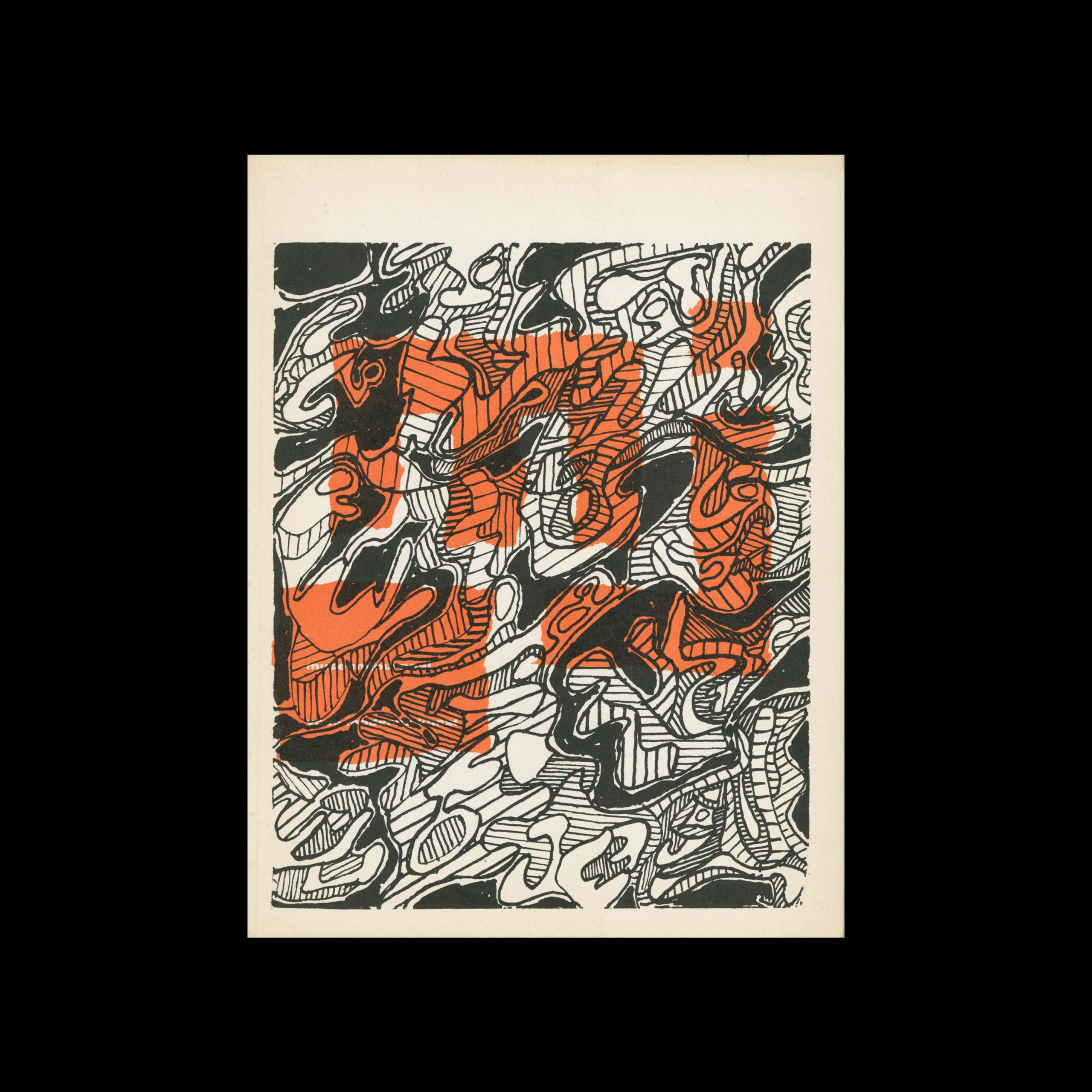 Museumjournaal, Serie 9 no4, 1963. Cover illustration by Jean Dubuffet.