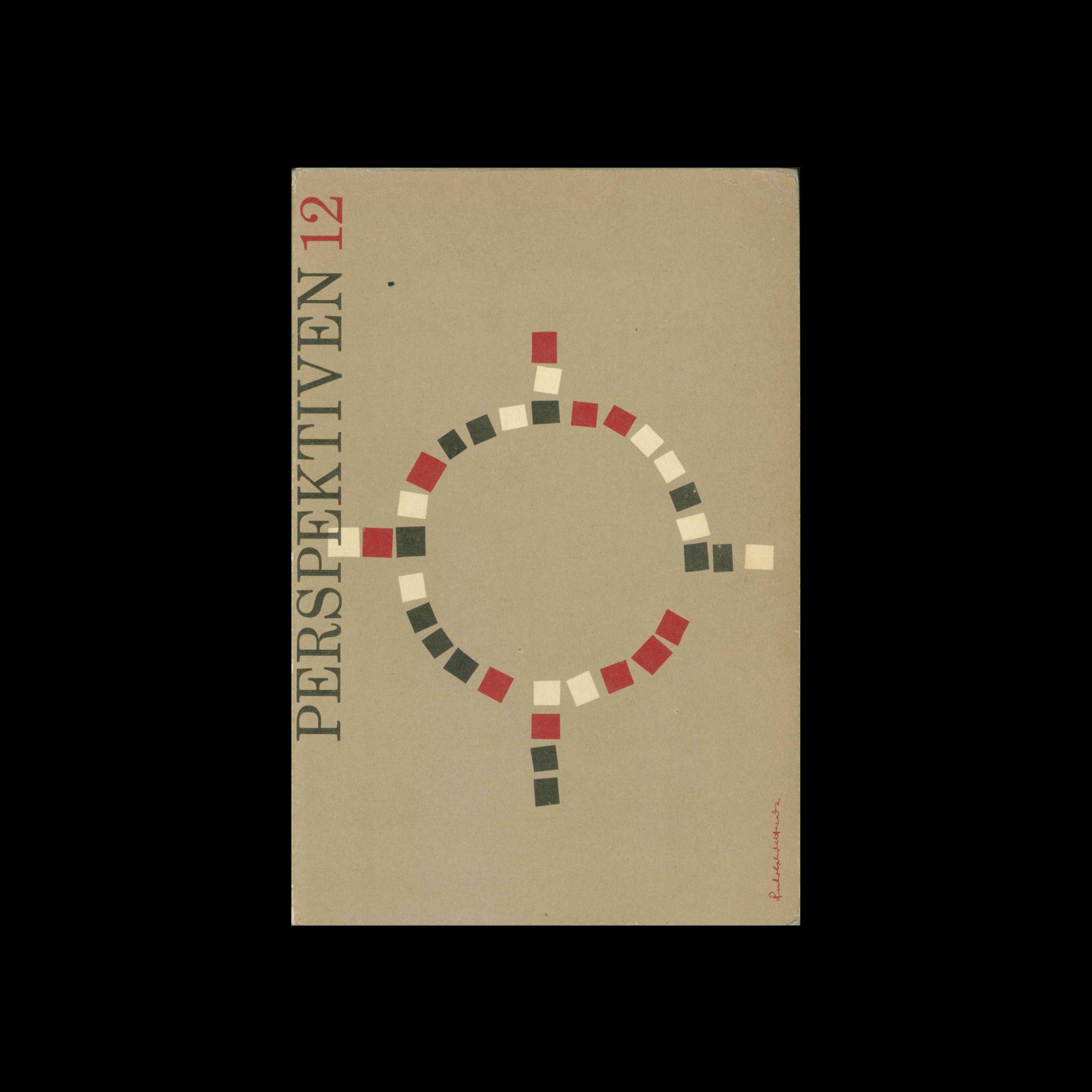 Perspektiven, Literatur, Kunst, Musik, 12, 1955. Cover design by Rudolph de Harak