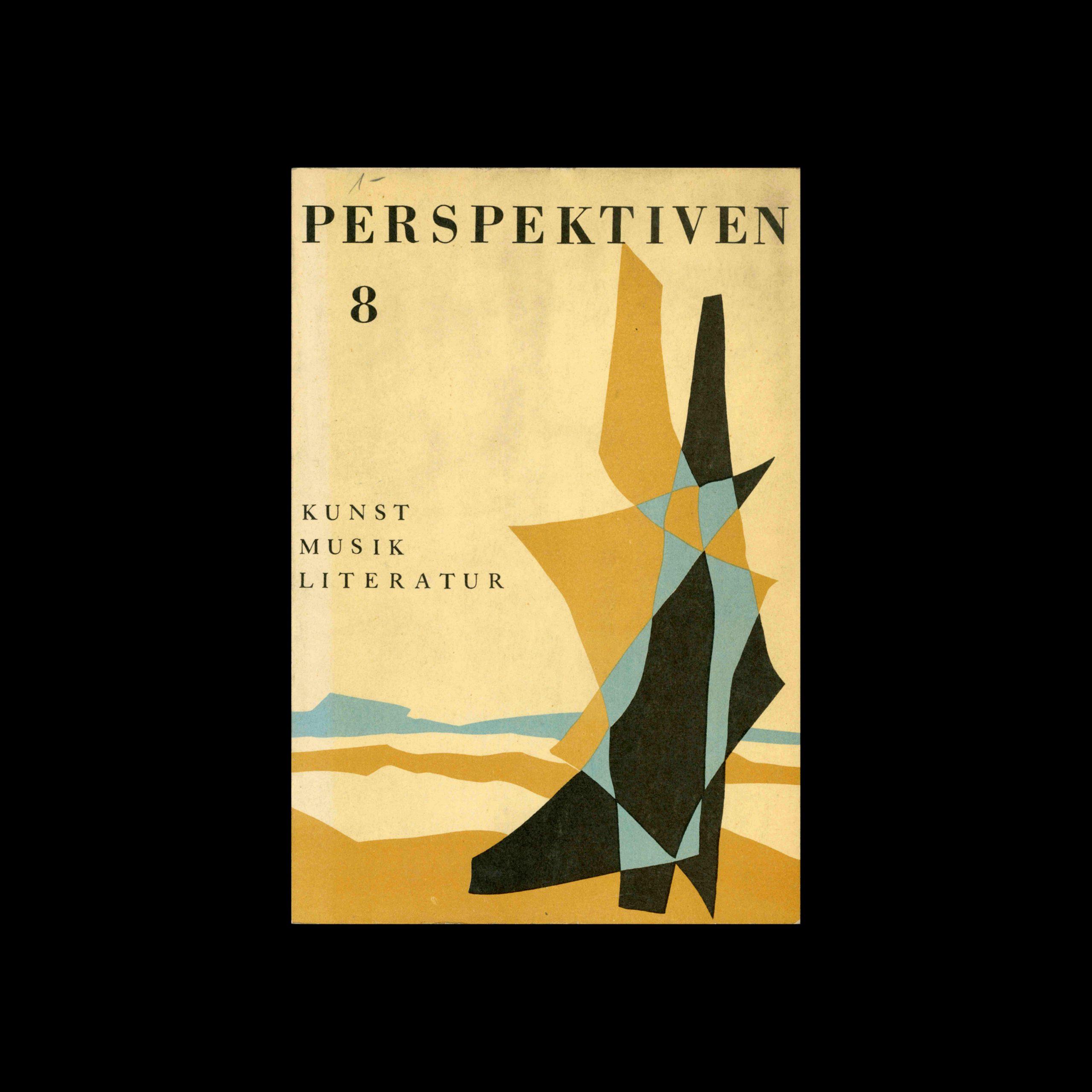 Perspektiven, Literatur, Kunst, Musik, 8, 1954. Cover design by Clemens L. Mirmont
