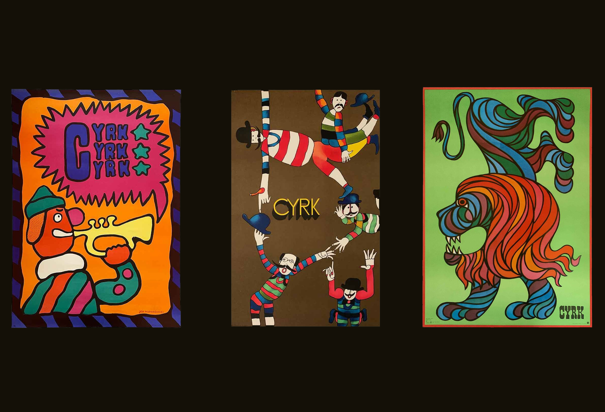 Polish cyrk (circus) posters