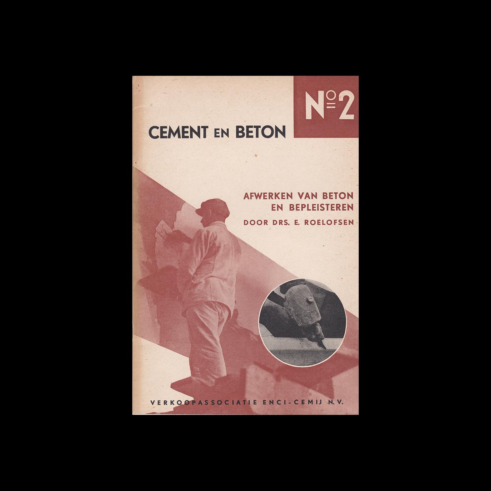Cement en Beton, 2, 1938. Design by Paul Schuitema.
