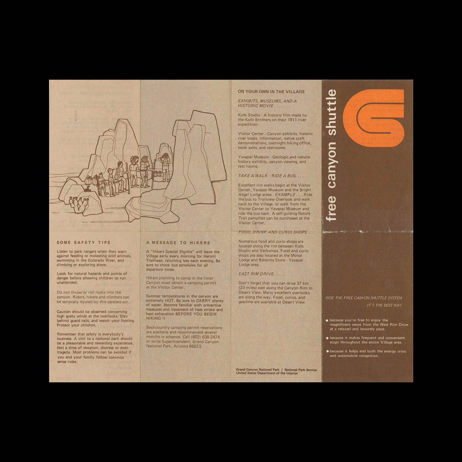 Free Canyon Shuttle, Guide, 1969