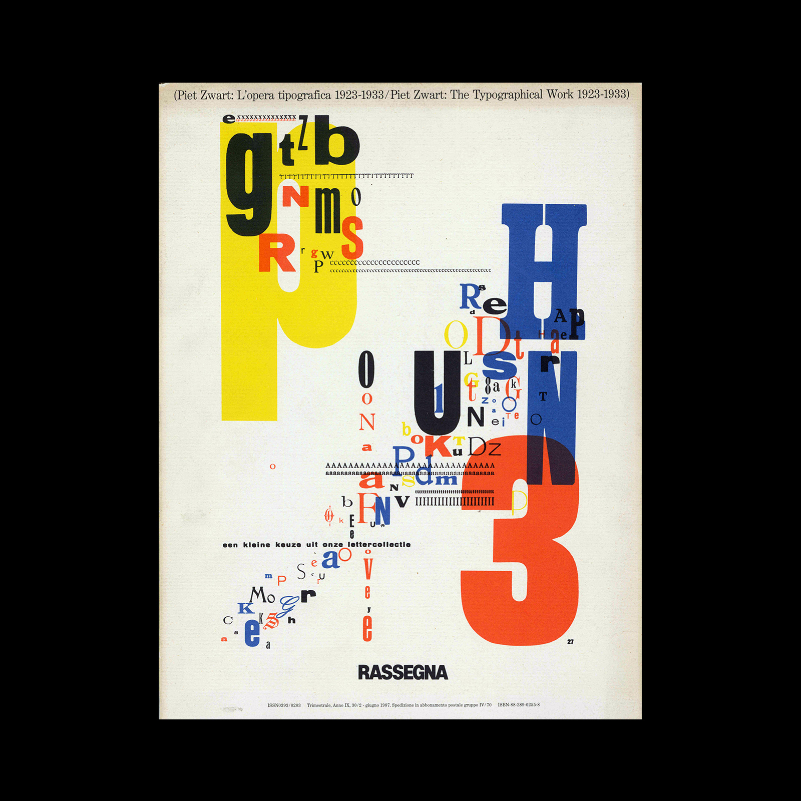 Rassegna 30: Piet Zwart: L'opera Tipografica 1923-1933 / Piet Zwart, the typographical work 1923-1933, 1987