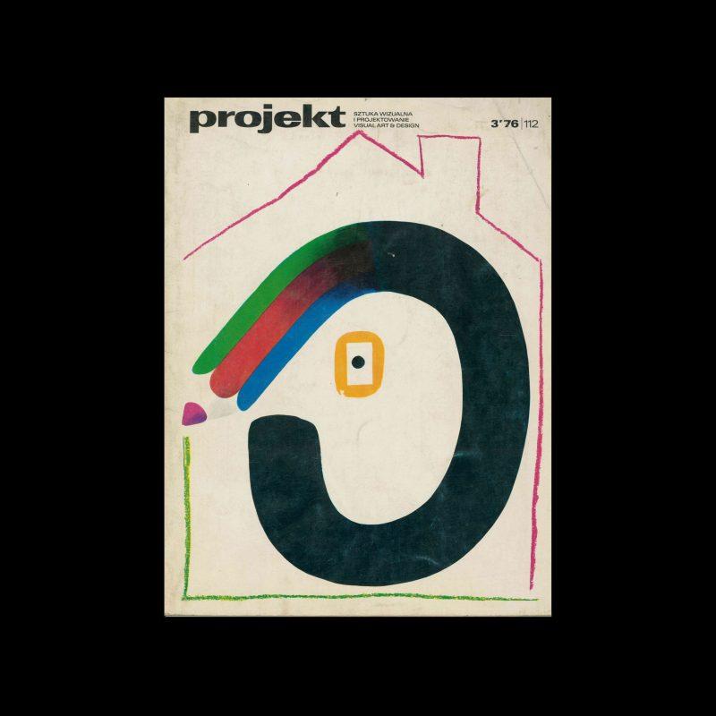 Projekt 112, 3, 1976. Cover design by Hubert Hilscher