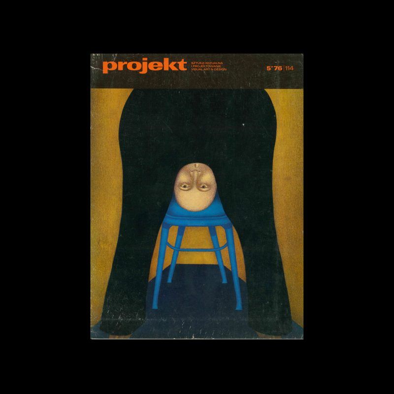 Projekt 114, 5, 1976. Cover design by Grzegorz Stańczyk