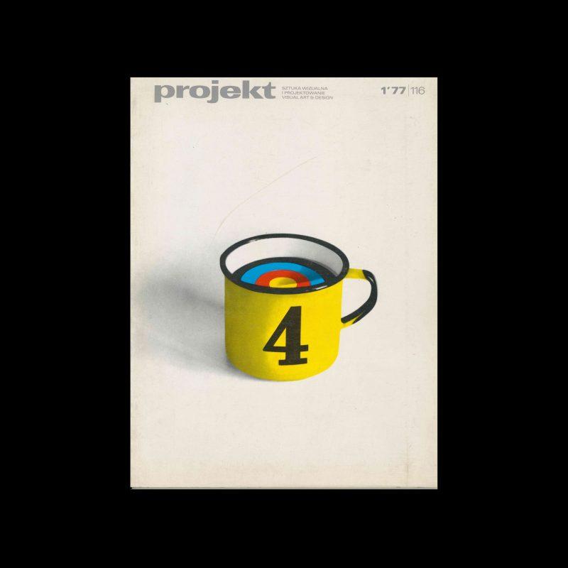 Projekt 116, 1, 1977. Cover design by Wojciech Freudenreich