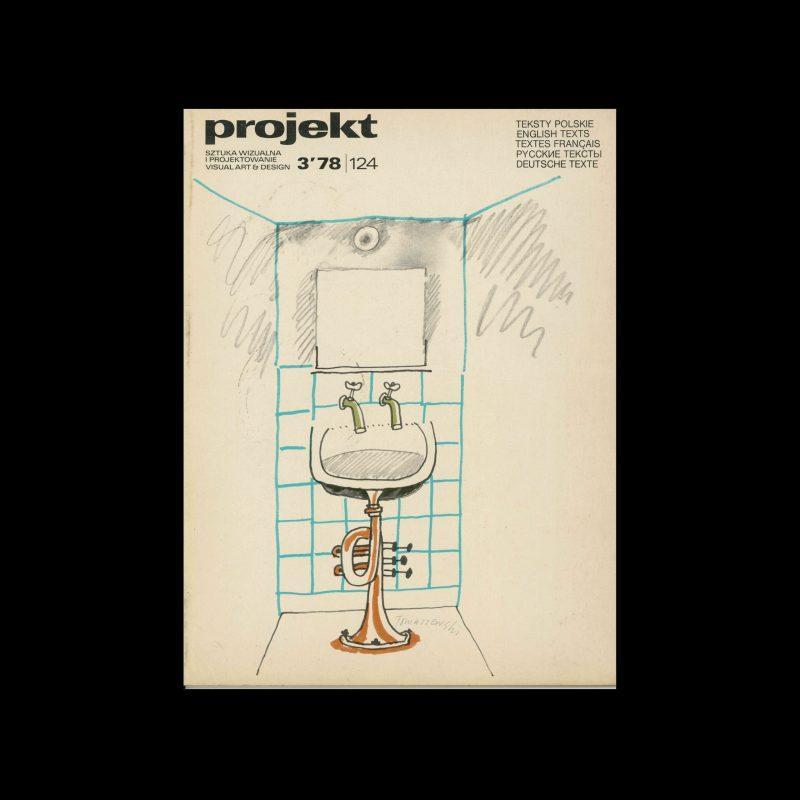 Projekt 78, 3, 1978. Cover design by Henryk Tomaszewski