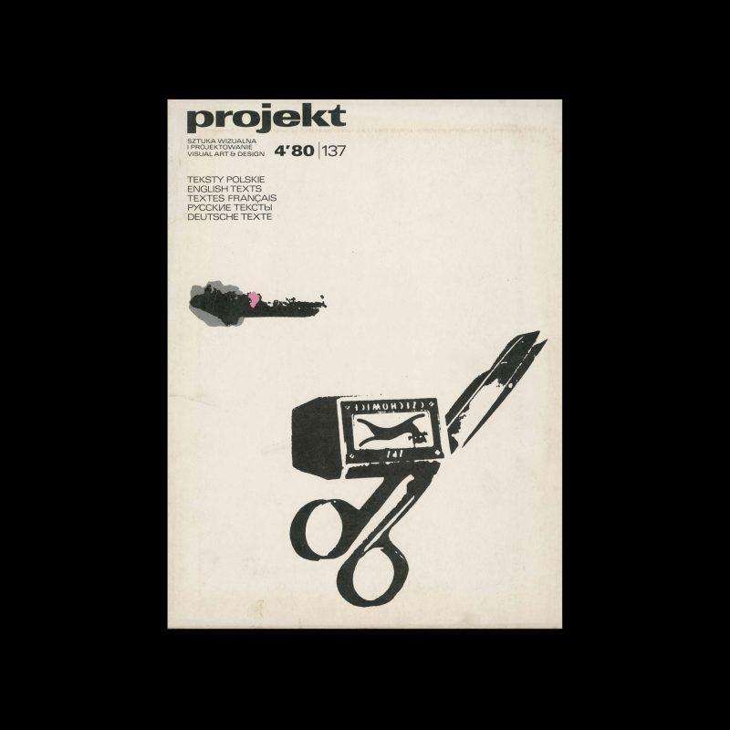 Projekt 137, 4, 1980. Cover design by Zbigniew Czarnecki