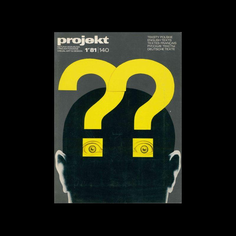 Projekt 140, 1, 1981. Cover design by Wiesław Rosocha